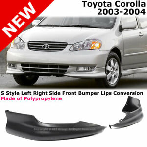 Toyota Corolla 03 04 S Style Front L R Lower Body Kit Lip Spoiler Pp Black