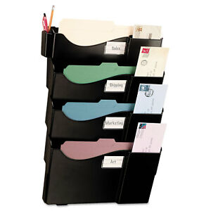 Officemate Grande Central Wall Filing System Four Pockets 16 5 8 X 4 3 4 X 23 1