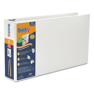 Stride Quickfit Ledger D ring View Binder 3 Capacity 11 X 17 White 94050