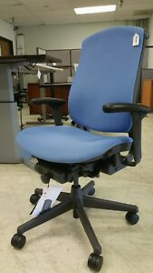 Herman Miller Celle Office Chair Blue Refurbished open Box