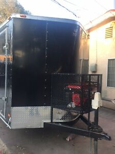Rare Custom 6x12 Concession Enclosed Trailer