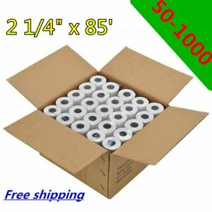 50 500 Roll 2 1 4 X 85 Cash Register Thermal Credit Card Pos Receipt Paper