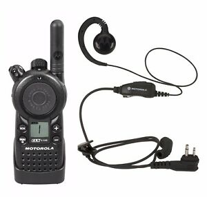 Motorola Cls1110 Uhf Business Two way Radio With Hkln4604 Earpiece Headset