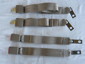 2 Sets Tan 2 Two Point Seat Belt Lap Belt Made By Trw Oem Quality New 60