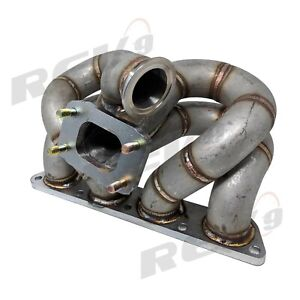 Rev9 Hp Series Honda B16 B18 Equal Length Ram Horn Turbo Manifold T3 T4 T3 Ac Ps