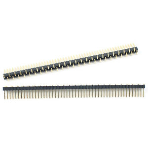 10pcs Gold Plated 1 27mm Pitch 50 Pin Male Single Row Smt Smd Pin Header Strip