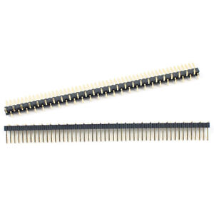 100pcs Gold Plated 1 27mm Pitch 50 Pin Male Single Row Smt Smd Pin Header Strip