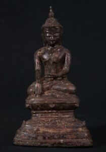 Ava Style Antique Bronze Buddha Statue From Burma Antique Buddha Statues