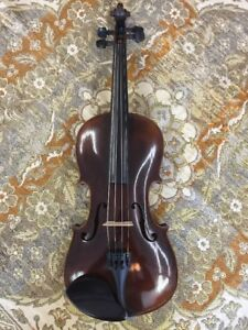 4 4 Antique German Schweitzer Model Violin Nice Old One W Professional Setup