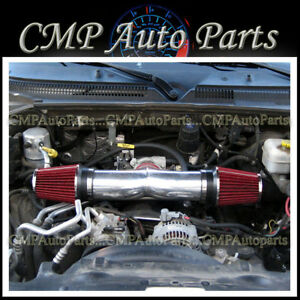 Red Dual Twin Air Intake Kit For 2008 2010 Dodge Ram 1500 47 V8 Engine