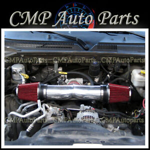 Red Dual Twin Air Intake Kit For 2008 2010 Dodge Ram 1500 4 7 V8 Engine