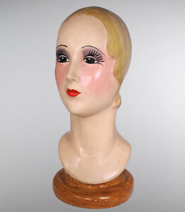 1920 s Hand Painted Mannequin Head Display Katherine s Collection 28 28332
