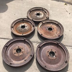 1920s Chevy Disc Wheels Set Of Five Hotrod Ratrod A T 32 34