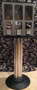 Metal Triple Bulk Vending Gumball Candy Machine 25 Cent Each