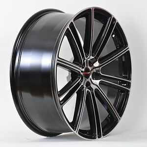 4 Gwg Wheels 18 Inch Black Machined Flow Rims Fits 5x114 3 Ford Shelby Gt 500