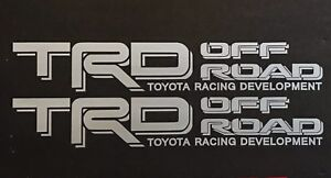 Silver Toyota Racing Trd Truck Off Road 4x4 Tundra Tacoma Decal Suv Sticker