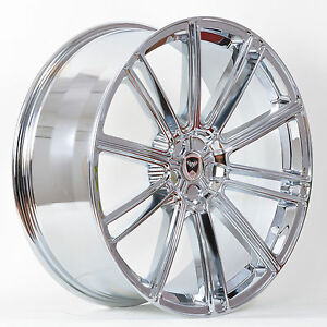 4 Gwg Wheels 20 Inch Staggered Chrome Flow Rims Fits 5x120 Cadillac Xts 2013 16