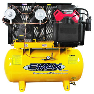 Emax Eges1860st 18 Hp 2 stage 60 Gallon Truck Mount Gas Drive Piston Compressor