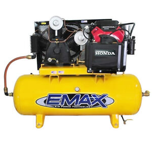 Emax Eges2480st 24 Hp 2 stage 80 Gallon Truck Mount Gas Drive Piston Compressor