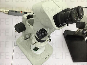 Olympus Szx7 Microscope With Whsz10x h 22 Eyepieces df Plan 1x Objective light