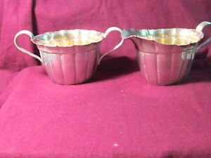 Sterling Reed Barton 2pc Creamer Sugar Set X250 5 3 8 X 2 1 2 254g