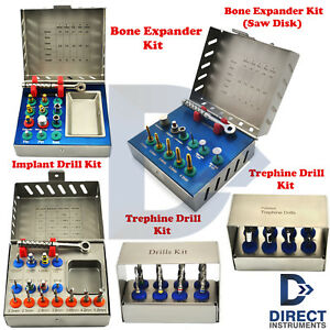 Dental Implant Surgical Kits Bone Expander Saw Disk Trephine Drills Surgery New