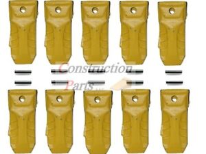 X156l Hensley Style Extra Long Bucket Digging Teeth With Roll Pins set Of 10