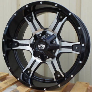 20 Black Fuel Chevy Silverado Wheels Xd Moto Metal Mod Rims 1500 Tahoe Sierra