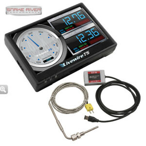 Sct Livewire Ts Performance Tuner Monitor Programmer Ford Gas Diesel W Pyrometer