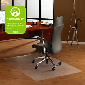 Floortex Hard Floor Chairmat Smooth Back Rectangular 48 x79 Clear 1220019er