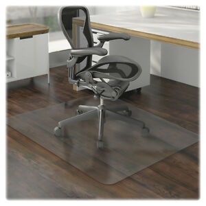 Lorell Hard Floor Chairmat Rectangular 46 x60 Clear 69169