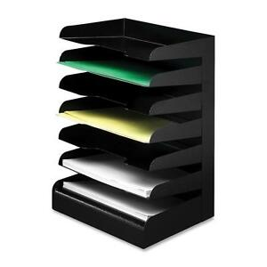 Buddy Products Desktop Organizer 7 Tier Letter Horizontal Black 04074