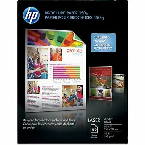 Hp Laser Brochure Paper 40lb 97ge 113 Iso 8 1 2 x11 50pk Ct We Q6611act