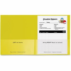 C line Classroom Connector Folders 9 x11 3 4 25 bx Yellow 32006