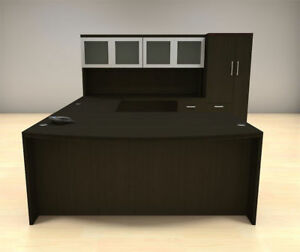 6pc U Shape Modern Executive Office Desk Set ch amb u64