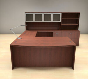 7pc U Shape Modern Executive Office Desk Set ch amb u75