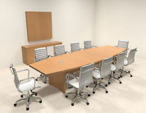 Modern Contemporary Boat Shape 12 Feet Conference Table ro abd c10