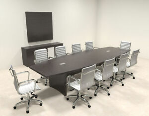 Modern Contemporary Boat Shape 12 Feet Conference Table ro abd c12