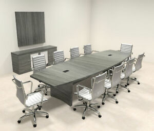 Modern Contemporary Boat Shape 12 Feet Conference Table ro abd c19