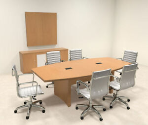 Modern Contemporary Boat Shape 8 Feet Conference Table ro abd c4