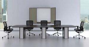 Modern Cotemporary Boat Shape 12 Feet Conference Table ch ver c4