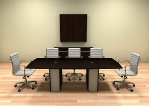 Modern Cotemporary Boat Shape 8 Feet Conference Table ch ver c2