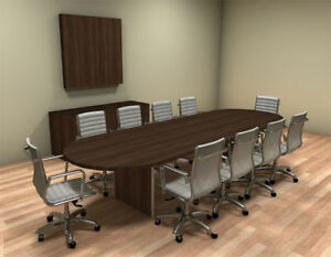 Modern Racetrack 12 Feet Conference Table ch amb c21