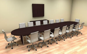 Modern Racetrack 18 Feet Conference Table ch amb c8