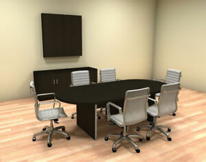 Modern Racetrack 8 Feet Conference Table ch amb c34