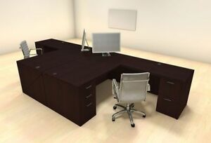 Two Persons Modern Executive Office Workstation Desk Set ch amb f17