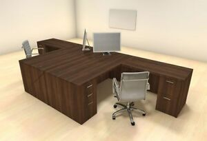 Two Persons Modern Executive Office Workstation Desk Set ch amb f19