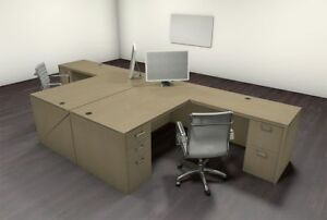 Two Persons Modern Executive Office Workstation Desk Set ch amb f20