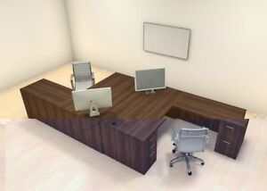 Two Persons Modern Executive Office Workstation Desk Set ch amb f4