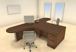 Two Persons Modern Executive Office Workstation Desk Set ch amb s34